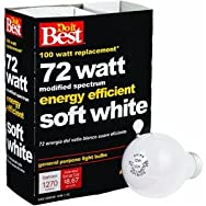 GE Private Label 90860 Do it Halogen Light Bulb-72W 4PK SOFT WHITE BULB