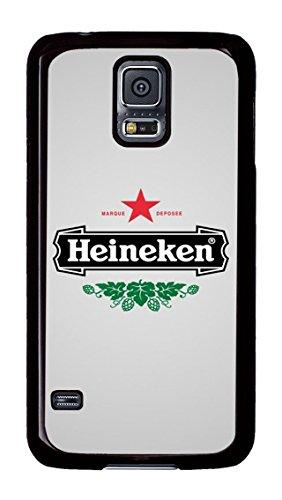 Samsung Galaxy S5 Case, S5 Case - Anti-Scratch Hard Case for Samsung Galaxy S5 Heineken Logo Stylish Design Black Hard Back Case for Samsung Galaxy S5 (Galaxy S5 Heineken Case compare prices)
