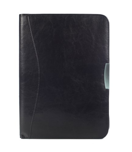Deluxe Contemporary Zippered Black Portfolio By BAGS FOR LESSTM