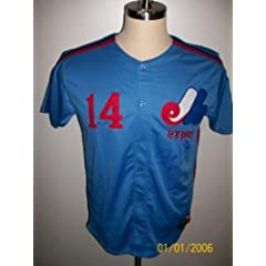 Pete Rose Signed T b Montreal Expos Jersey #14 hit King - JSA Certified - Autographed...