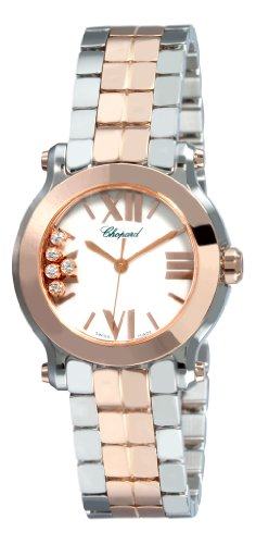 Chopard Happy Sport II Ladies-Small Two Tone Diamond Watch 278509-6003