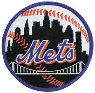 New York Mets MLB Baseball Team Logo Patch (Black with Blue Border) at Amazon.com