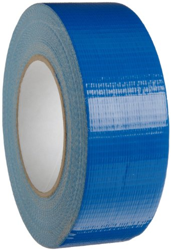 "Brady 80187 180' Length, 2"" Width, B-88 Non Printable Plastic Backed Cloth, Blue Color Economy Pipe Banding Tape"