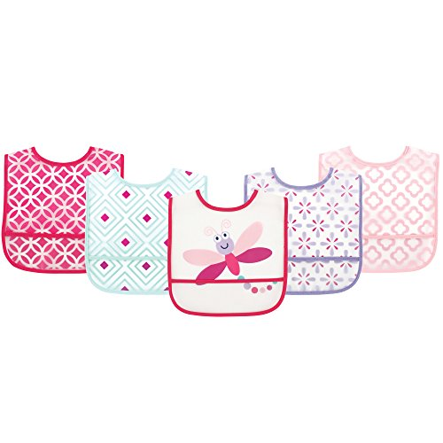 Luvable Friends Waterproof Bib 5-Pack, DragonFly