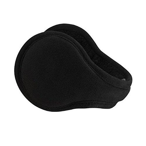 Flammi Men Women Foldable Ear Warmers Behind Head Earmuffs (Black) (Behind The Head Ear Muffs compare prices)