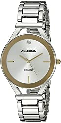 Armitron Women's 75/5334SVTT Diamond-Accented Dial Two-Tone Bracelet Watch