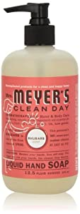 Mrs. Meyer's Clean Day Liquid Hand Soap, Rhubarb, 12.5 Oz