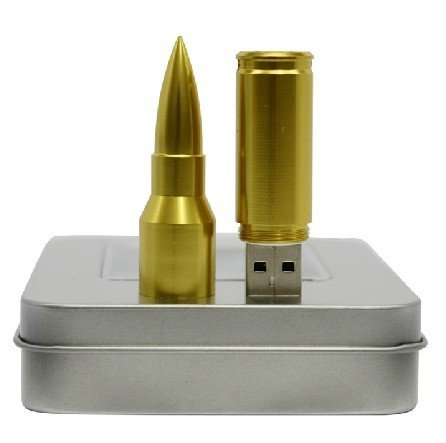 Gold & Silver bullet USB flash drive