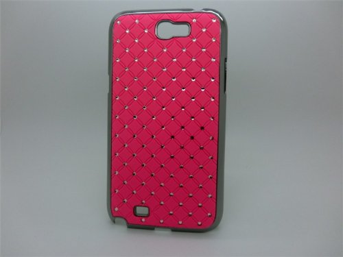 Maclogy 2014 Latest Fashion Design Luxury Dazzling Rhinestones Shiny Crystal Diamond Plating Protective Shell Trapped Difficult Cases Samsung Galaxy Note2 Note 2 Ii N7100 N7105 And Fashion Chain Crystal Ornaments Color Uv Radiation Gifts (Pink)