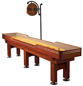 gamenamics delaware 10 foot premium shuffleboard table with solid maple playfield