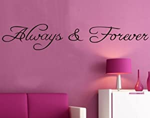 Good Life Always & Forever Lettering Wall Family Home Decor Decals Black Decoration from Good Life