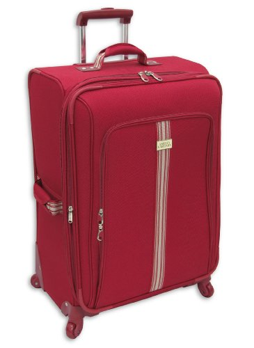 Amelia Earhart Luggage Runway Lites Collection 28″ Expandable 360 Upright, Red, 28-Inch special offers