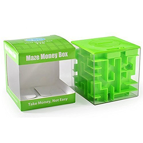 SainSmart Jr. Amaze CB-22 Cube Money Maze Bank-Unique Perfect Gifts for Kids-100% Satisfaction Guaranteed! (Green) (Cool Circuits Jr compare prices)