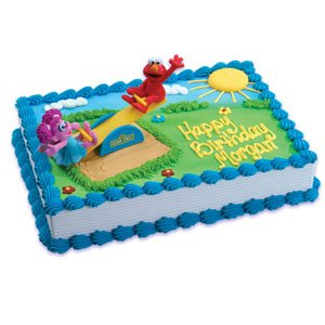 Sesame Street Elmo and Abby Playground Cake Decorating Kit