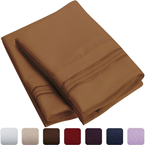 Mellanni-Luxury-Pillowcase-Set-HIGHEST-QUALITY-Brushed-Microfiber-1800-Bedding-Wrinkle-Fade-Stain-Resistant-Hypoallergenic-Set-of-2-Standard-Size-Mocha