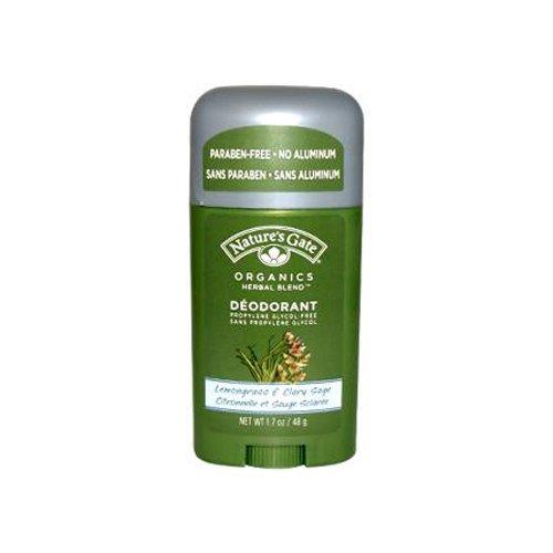 Natures Gate Organics Lemongrass and Clary Sage Deodorant Lemongrass & Clary Sage 1.7 oz (48.2 g) ( Multi-Pack)