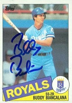 Buddy Biancalana autographed Baseball Card (Kansas City Royals) 1985 Topps #387