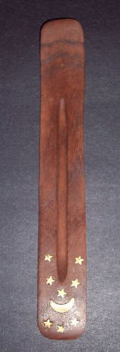 Incense Burner ~ Traditional Incense Holder with Inlaid Design ~ Approx 10 Inches