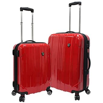 best 2 piece lightweight spinner rolling cabin suitcases 2 of the best cheap online. Black Bedroom Furniture Sets. Home Design Ideas