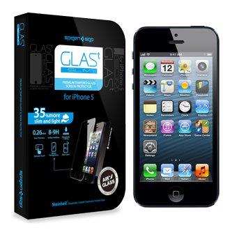 国内正規品iphone5s iphone5c iphone5 強化 ガラス フィルムSPIGEN SGP スクリーン プロテクター Glas.t スリム