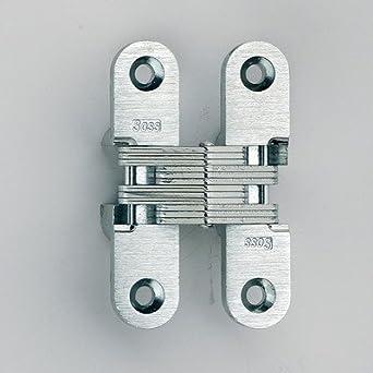 208 Zinc Bisagra invisible con agujeros para la madera o