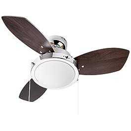 Westinghouse Lighting, Ventilatore da soffitto, 31 x 76 x 76 cm, colore pale reversibile: Wengue / Faggio