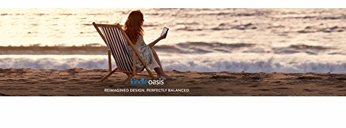 New - Kindle Oasis with Leather Charging Cover - Black, 6