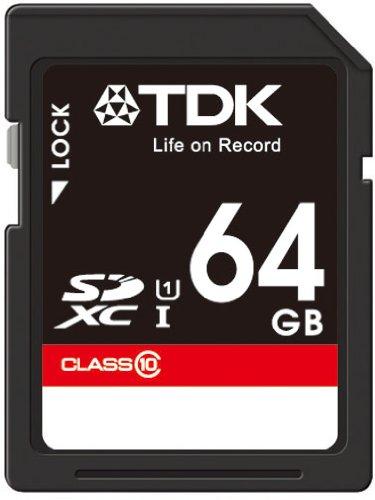 【Amazon.co.jp限定】TDK SDXCカード 64GB Class10 UHS-1対応(最大転送速度30MB/秒) 5年保証 SDXC10UV-64G-FFP