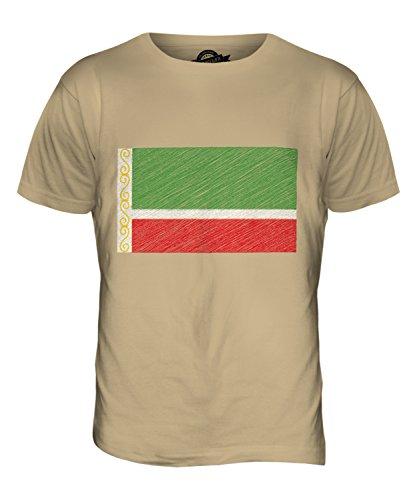 candymix-tschetschenien-kritzelte-flagge-herren-t-shirt-grosse-medium-farbe-sand
