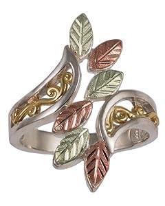 Black Hills Gold Ladies' Sterling Silver Elongated Tango Leaf Ring - SZ 5