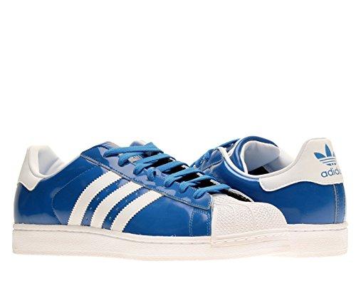 En la actualidad Fatal filósofo  adidas Superstar II Men Patent Leather Sneakers Blue White D65603 SIZE 11 -  sankont papert