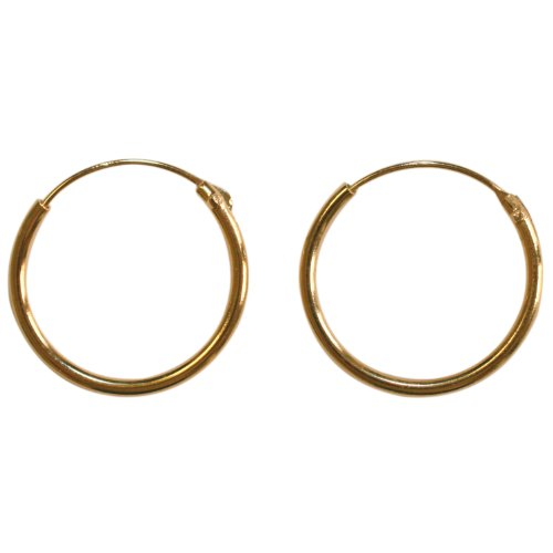 18K Gold Plated 16 mm Creole Hoop Earrings
