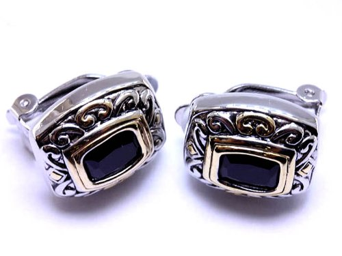 EARRING METAL CASTING CLIP BLACK Fashion Jewelry Costume Jewelry fashion accessory Beautiful Charms