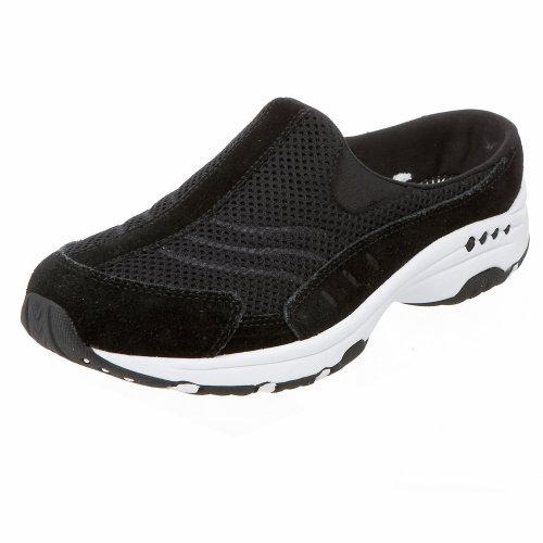 Easy Spirit Women's Traveltime Slip-On,Black/White,6 M