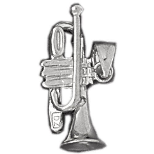 Clevereve's 14K White Gold Charm 3-D Musical Instruments 2 - Gram(s)