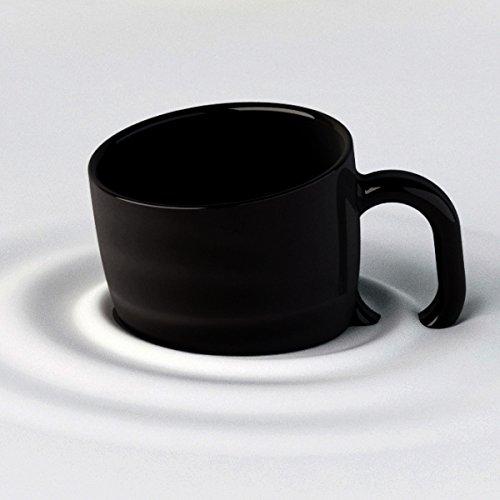 Mug original et insolite, la tasse déco design à effet penché noire