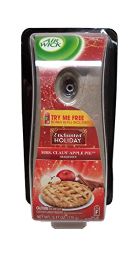 Air Wick Freshmatic Automatic Air Freshener Starter Kit, Enchanted Holiday Mrs. Claus' Apple Pie (Starter Wicking compare prices)