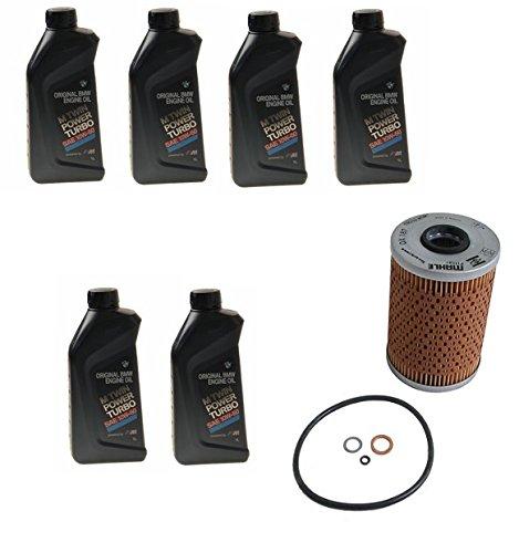 Engine Oil Change Kit 6L Twin Power 10W - 60 BMW E36 E46 M3 E86 E85 Z4 (E36 M3 Turbo Kit compare prices)