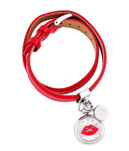 lulu-guinness-0950369-montre-femme-quartz-analogique-bracelet-cuir-rouge
