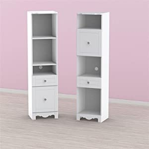 Pixel Tall Bookcase Tower in White from Nexera
