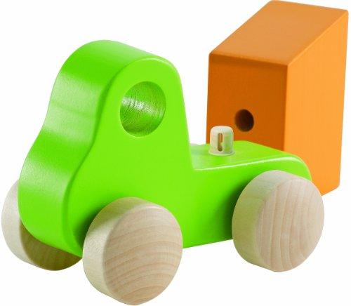 Hape - Little Dump Truck - Solid Maple  in Green