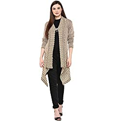 SKiDlers Women's Wool Shrug (Beige)