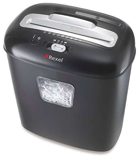 Rexel DUO Cross Cut 10 Sheet Paper Shredder with 17 Litre Bin - Black