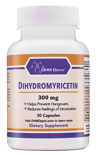 Dihydromyricetin (Hovenia Dulcis Extract) Scientifically Proven to Prevent Hangovers (Naturally Obtained from the Oriental Raisin Tree) 30 Capsules 300mg