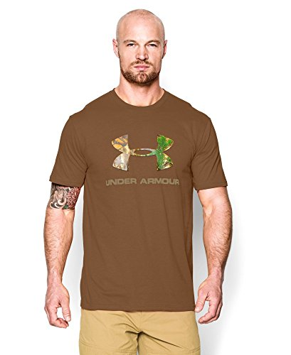 Under Armour Men's UA Camo Fill Logo T-Shirt Medium Bark