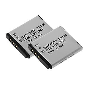 GTMax 2 Replacement KLIC-7004 Standard Lithium-Ion Battery for Kodak PlaySport (Zx3) HD Waterproof Pocket Video Camera