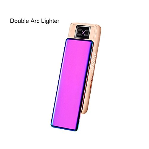 Jobon Exquisite Lady Double Arc Cigarette Lighter ZB-388 USB Rechargeable Windproof Flameless with Cleaning Brush and Gift Box (Dazzle color) (Armor Lid Bed Cover compare prices)