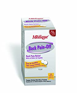 Medique 07313 Back Pain-Off Back Pain Relief Tablets, 500-Pack