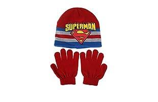 DC COMICS Conjunto Gorro y Guantes Superman Stripe (Rojo)