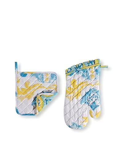 Pot Holder & Mitt Set, Delilah Blue